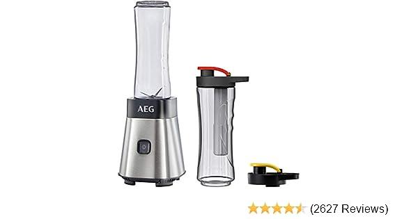 AEG Mini-Mixer SB 2700 Smoothie Maker Stand-Blender 2x 600 ml Flaschen Kühlakku