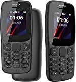 Nokia 106 Dual Sim 2018 Dark Grey With LED Torch - FM Radio - Big Button Phone