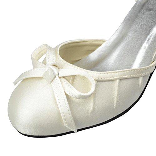Kevin Fashion , Sandales Compensées femme Beige - ivoire