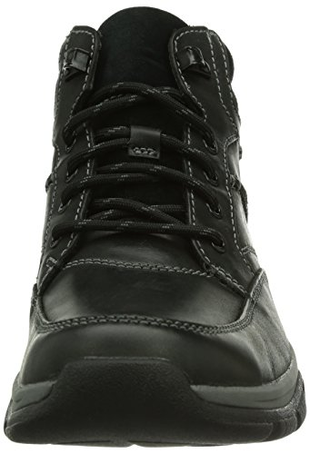 Clarks RampartMid GTX Herren Kurzschaft Stiefel Schwarz (Black Leather)