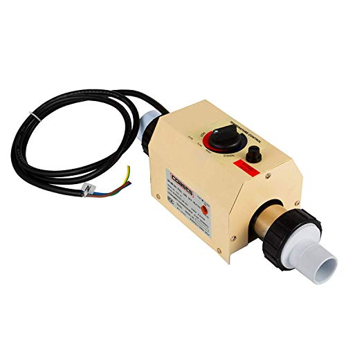 adheizung Elektro 220V Spa Elektroheizung Thermostat Schwimmbad Wärmepumpe(48mm) ()