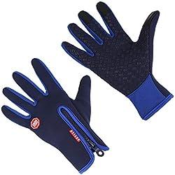 Aruny Winter Handschuhe Winddicht Thermische Für Männer Frauen Ideal für Sport Im Freien Laufen, Radfahren, Wandern, Fahren, Klettern Touchscreen Multifunktionale Handschuhe (Blau, S)