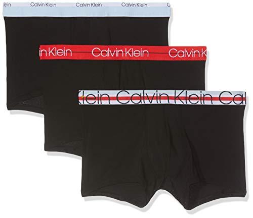 Calvin Klein Herren Trunk 3PK Boxershorts, Schwarz (Black 001), Medium (Herstellergröße: M) -