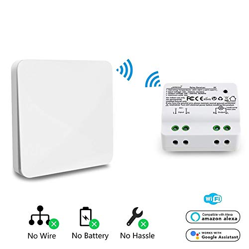 SinceY Kit Switch, Interruptor inalámbrico autogénérant un botón RF + WiFi
