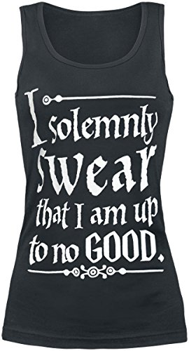 Harry Potter Solemnly Swear Top Mujer Negro