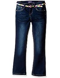 Lee Little Girls' Multi-Stripe Belted Boot Jean