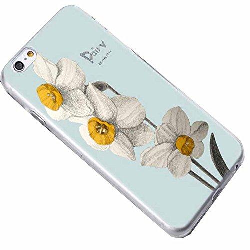 Easbuy Blume Flower Handy Hülle Soft Silikon Case Etui Tasche für iPhone 7 Plus Smartphone Cover Handytasche Handyhülle Schutzhülle Blumen 14