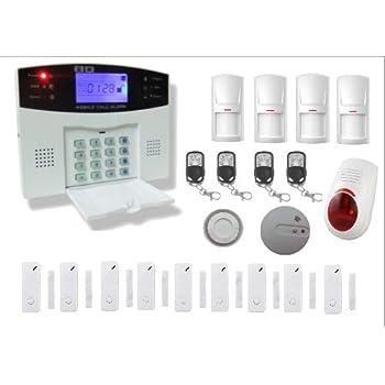 kit alarme de maison sans fil gsm carte sim avec sir ne. Black Bedroom Furniture Sets. Home Design Ideas