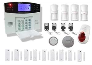 Bullnet Systems Alarme Maison Sans Fil Téléphonique GSM Anti Intrusion Fonction Temporisation