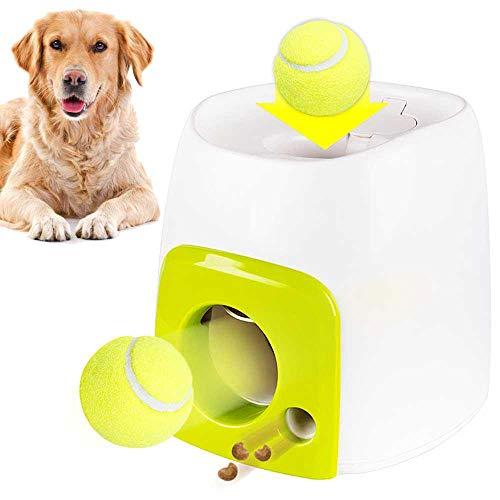 Womdee Futterautomat für Hunde, Futterautomat für Haustiere & iq Treat-Ball für Hunde, Belohnungsautomat für langsames Fressen mit Tennisball, großartiges Spielzeugspiel für das iq-Hundetraining