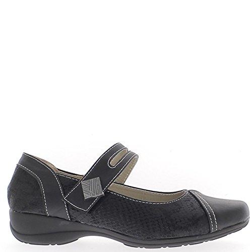 ChaussMoi Chaussures Femme Confort Noires à Talon Compensé de 4cm - 39
