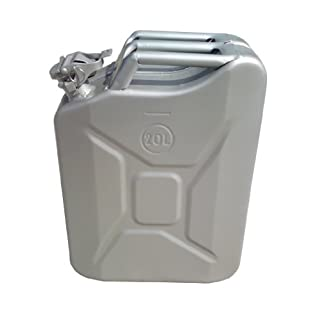 20 Litre Silver Jerry Can for Fuel Petrol Diesel etc