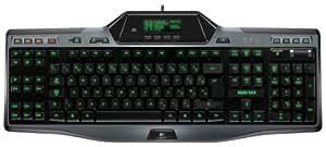 Logitech Gaming Keyboard G510 Clavier filaire Ecran LCD GamePanel Rétroéclairage de couleur personnalisable 18 touches programmables Audio USB intégré Mode de jeu/bureau -Azerty Noir