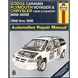 Dodge Caravan, Plymouth Voyager, Chrysler Town & Country Mini-Vans: 1996 thru 1998 (Haynes Automotive Repair Manuals) by L. Alan Ledoux (1998-07-24)