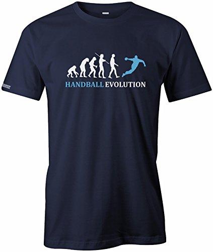 Jayess Handball Evolution - Sport - Handballer - Herren T-Shirt in Navy by Gr. XL