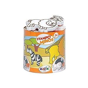 Aladine 85100 Stampominos - Lote de Sellos y tampón para Decorar (Madera), diseño de Sabana