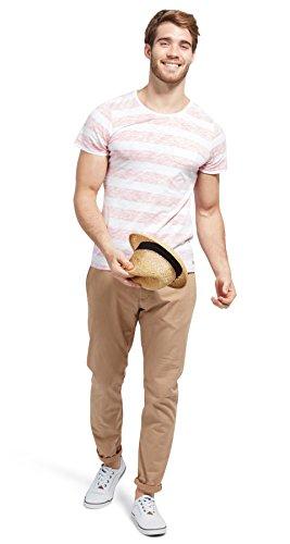 TOM TAILOR Herren T-Shirt Allover Stripe Print Tee virtual red