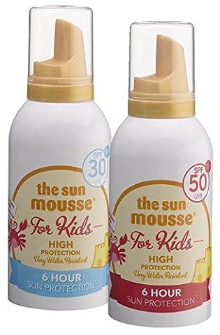 Urlaubspack the sun mousse parfumfrei parabenfrei Sonnencreme-Schaum für Kids LSF