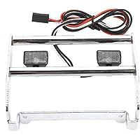 Taidda Piezas de actualización de RC Car, Parachoques de Metal de actualización de RC Exquisito con 2 Piezas de luz LED para TRX4 Bronco