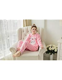 SALICEHB Pijamas De Animales Pijama De Dibujos Animados Lindo Personaje Camisón Franela De Poliéster Suave Pijama