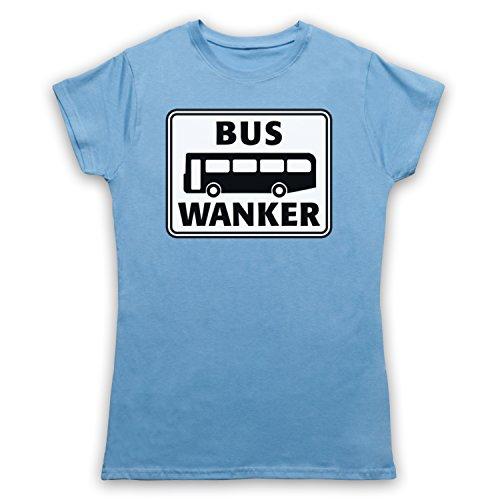 Bus Wanker Funny Damen T-Shirt Hellblau