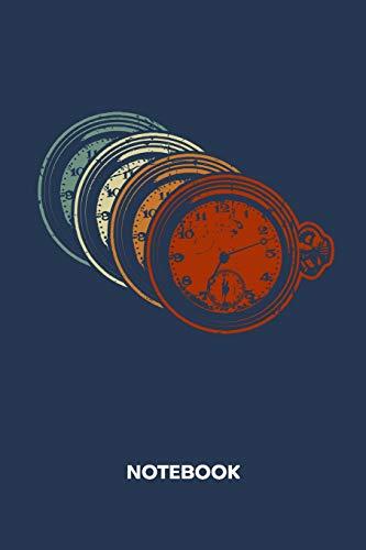 NOTEBOOK: Ruled Notepad   Retro Sketchbook Vintage Fans Organizer 80s Kids Planner   Boyfriend or Girlfriend Gift   A5 Diary 6x9 Inch Journal   Lined ... & Women   Pocket Watch Retro Vintage Style