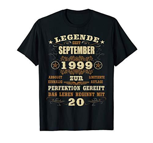 Geschenk zum 20. Geburtstag Jahrgang 1999 September 20 Jahre T-Shirt (T-shirt 1999)