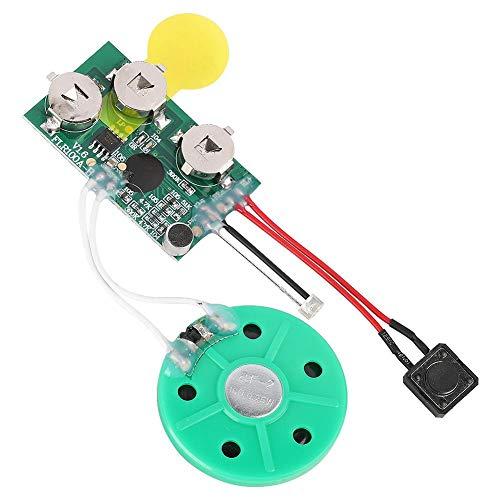 Tihebeyan DIY Sound Modul, 60 Sekunden Rewritable Sound Modul Grußkarte DIY Chip Voice Recording Player Sound Modul für Karten/DIY Spielzeug (Sound-modul Chip)