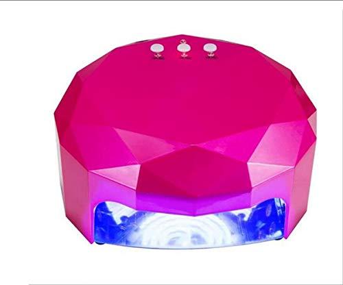 CTO Nagel-Lampe 48W Intelligente Induktions-Phototherapie-Lampe LED + Ccfl Doppelte Lichtquelle High-End-Profi-Nageltrockner-Maschine, Rot,A,LED