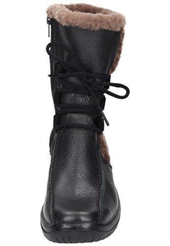 Comfortabel Damen Stiefel schwarz, 991026-1 schwarz