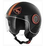 Ubike - Casque demi-jet Ubike DRIVE UB3 Noir/Orange - Noir - XS