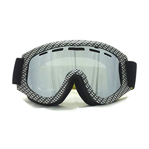 Aooaz occhiali occhialini da sci cilindrici in tpu per pc grande campo visivo antiappannamento antiappannamento e antinebbia grigio invernale