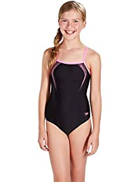 Speedo Sports Logo Muscleback Maillot de Bain Fille