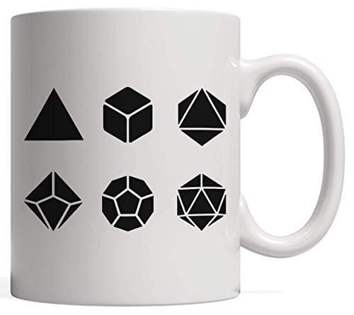 VTYOSQ Taza de cerámica, d20 Dice Evolution Juego de rol de Regalo | Stranger Game Master Mug para Tus campañas de Jugador de Dragones de Mesa - Classic RPG D&D Gift