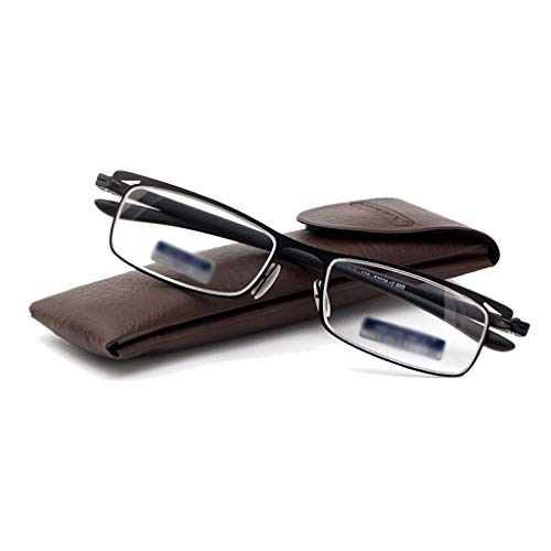 Axclg Reading glasses Mode Lesebrille, einfache Lesebrille Harz Pc Objektiv für Männer und Frauen, Edelstahlrahmen (+ 1,0, 1,5, 2,0, 2,5, 3,0)