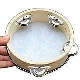 Pandereta piel de oveja, de Lumanuby, superresistente, 15,2 cm, instrumento de percusión para...