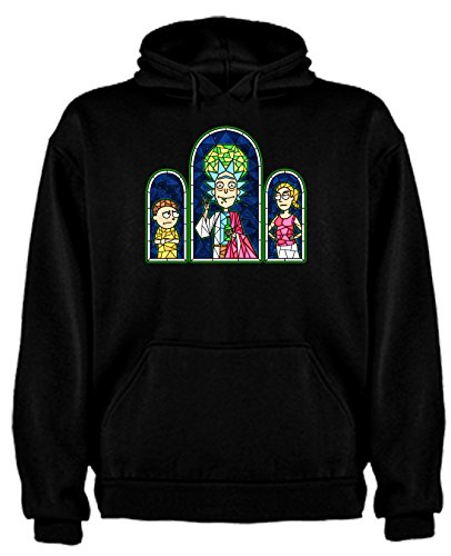 Sudadera de Rick and Morty Divertida Friky Smith Tiny hombre XL Negro