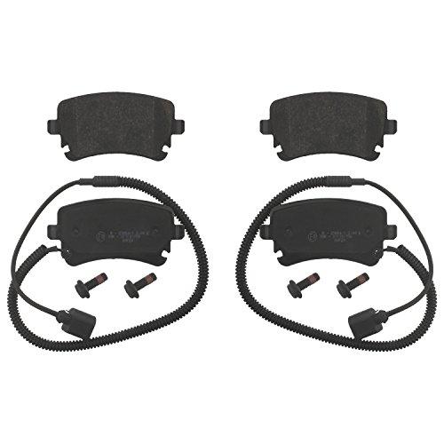 Preisvergleich Produktbild febi bilstein 16826 Bremsbelagsatz mit Schrauben (hinten,  4 Bremsbeläge),  mit Verschleißwarnkontakt