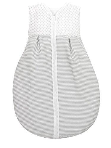 Alvi Baby Kugelschlafsack Molton Little Dots grey 632-9, Größe:80