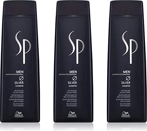 Wella SP Men Silver Shampoo 3x250 ml