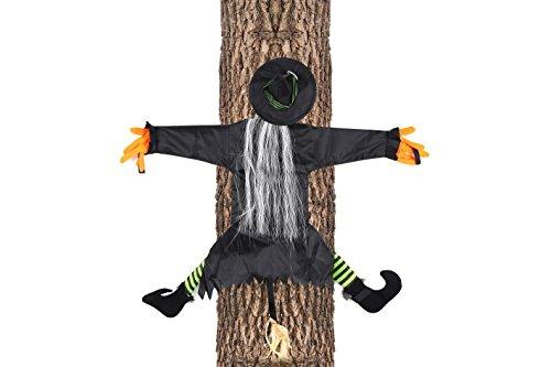 hängen Halloween Deko Party Garten Baum Aufhänger (Hexe Besen Prop)