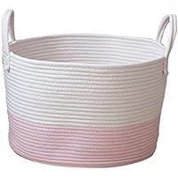Homyl Cestas de Almacenamiento de Cuerda de Algodón Organizador de Juguete Infantil/Ropa Sucia - Rosa S