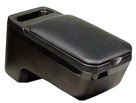 Fussmatten-Deluxe Mittelarmlehne   Leder schwarz   Münzfach Stauraum Ablage   verstellbar passgenau einfache Montage