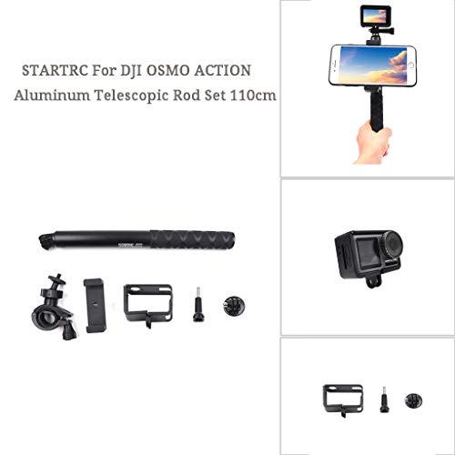 Upxiang STARTRC Zubehör Set für DJI Osmo Action Aluminium 4 Abschnitte Teleskopstange Adapter Aluminiumlegierung Handy-Clip Halter Actionkameras Actionkameras Expansion Accessories 110cm (A)