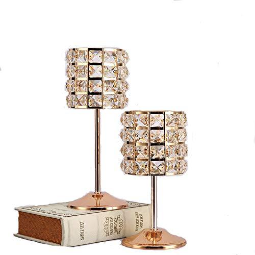 Z3z candelabro romantico lume di candela cena copertura di cristallo arte del ferro classico bar matrimonio caffè decorazione