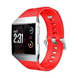 Morbido silicone sostituzione sport banda strap per Fitbit Ionic Smart fitness Watch by Upxiang, Red