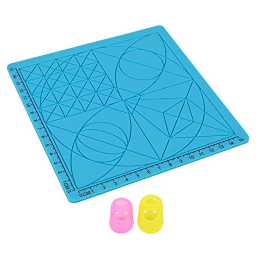 Price comparison product image F Fityle Professional 3D Printing Pen Silicone Design Mat with Basic Template Great 3D Pen Drawing Tools 3D Pen Accessory Template Educational for Kids Blue C