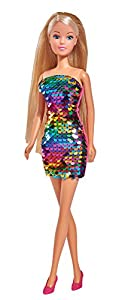 Simba 105733279-Steffi Love muñeca con Vestido Swap/Lentejuelas Vestido/Reversible Lentejuelas Vestido