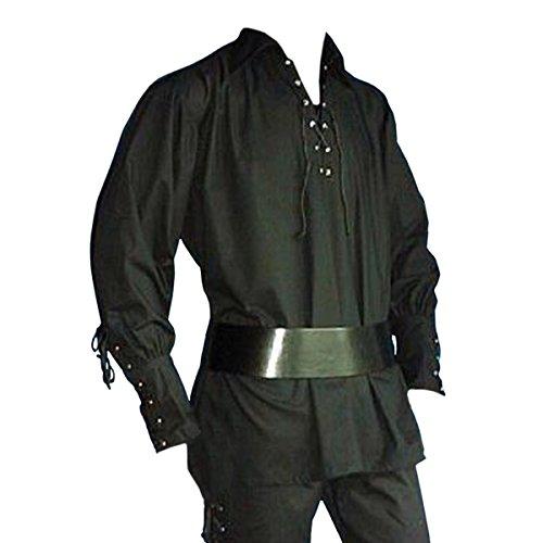 Imagen de camiseta pirata acordonada  disfraz medieval hombre  l
