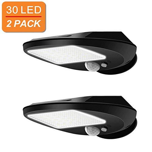 2 Schritt Paket (YQJJZX 30 led solarleuchten, outdoor solar motion sensor lichter sicherheit wasserdicht drahtlose helle für einfahrt garten wand deck yard terrasse schritt treppe (2 paket))